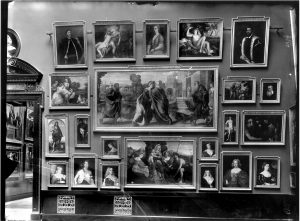 Hanging by Schaeffer, Gallery II, Picture Gallery, Kunsthistorisches Museum, photograph from 1912, copyright: KHM-Museumsverband.